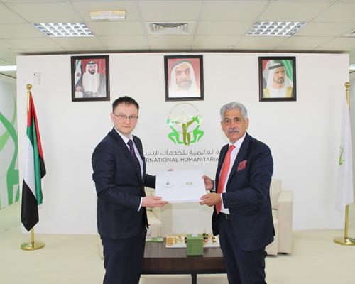 وفد من إدارة الشؤون الإنسانية البيلاروسية يزور المدينة العالمية للخدمات الإنسانية