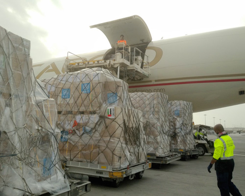 World Health Organization (WHO) shipment to Ethiopia in response to COVID-19