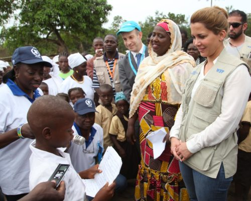 Princess Haya Bint Al Hussein visits UN-supported projects in Liberia and calls for greater efforts to address malnutrition