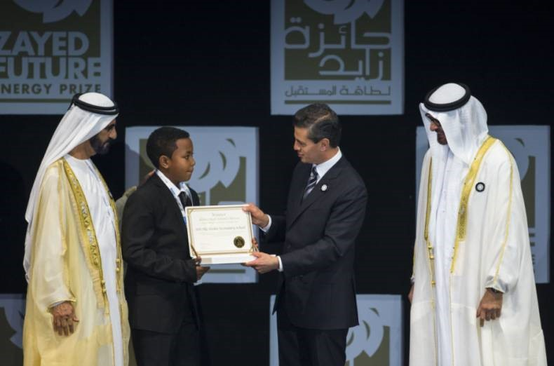 SOS Children's Villages school one of the winners of Zayed Future Energy Prize