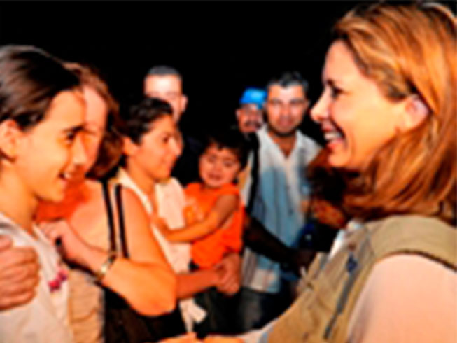 Princess Haya Returns from Dubai Airlift to Haiti | | International