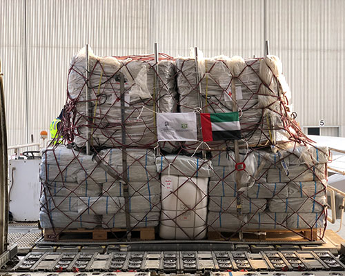 Aid airlift to Indonesia